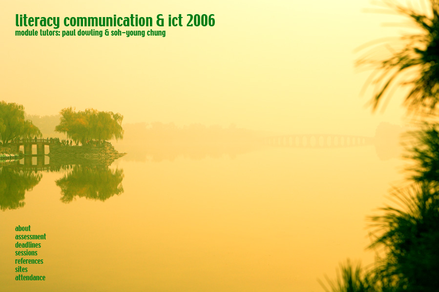 Literacy communication and ict in education a masters level module